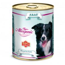 ARAS HYPO-ALLERGENIC консервы для собак «Страус, индейка с картофелем» 820 г